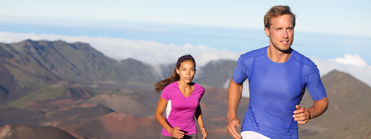 Keep your head up and your life and your running may just be perfect.  Like this cheesy stock photo running couple!
